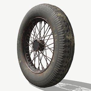 Military Motorcycle Wheel 3D model