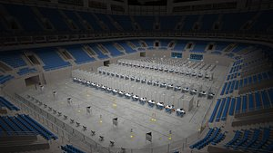 Corona Arena Vaccination Center 3D model 3D