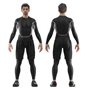 3D model male athlete