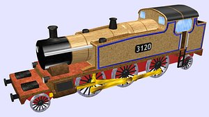 steam locomotive gwr 3120 3D model