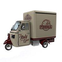 Piaggio ape pizza trailer