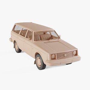 1975 Volvo 245 DL 3D model