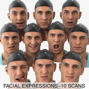 3D model mike clean scans expression