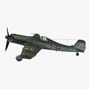 3D model German WWII Aircraft Focke-Wulf TA152H-1 Rigged 3D model