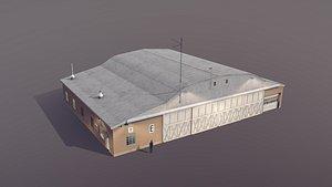hangar e 3D model