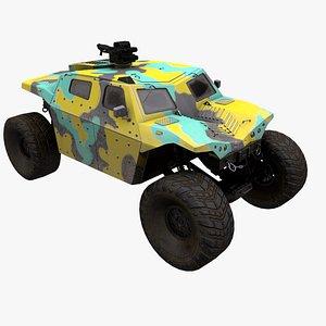 3D vehicle 4x4 model