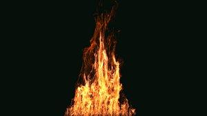 FumeFX Large Scale Fire 3D