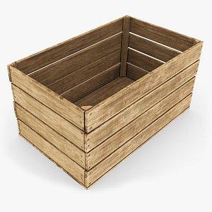 fruit crate wood 3D