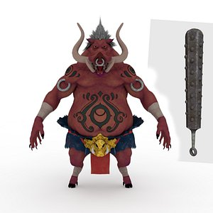 Demon Rigged and Animated model
