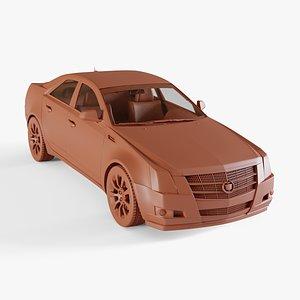 cadillac cts sedan 3D model