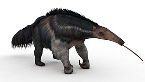 Salvador Dali Walking an Anteater 3D model
