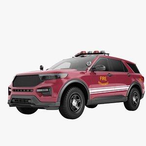 Fire Department SUV Generic 02 3D model