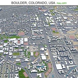 3D Boulder Colorado USA model