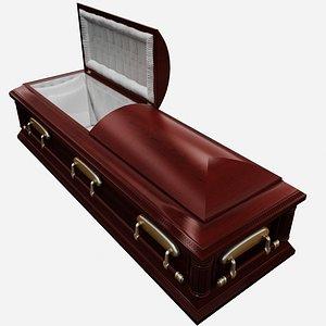 3d model of coffin casket