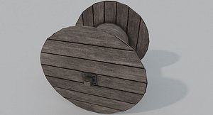 3D Wooden Cable Reel