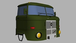 3D model IFA Truck cabin