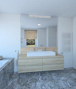 3D model Simple beautiful bathroom