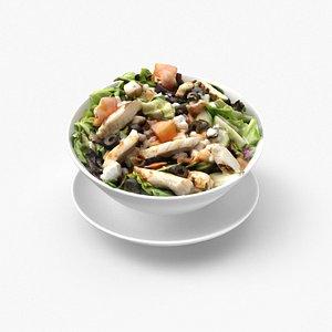 3D greek salad chicken
