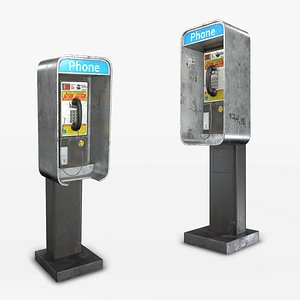 Phone Booth - Low Poly 3D model