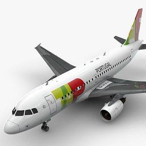 3D AirbusA319-100TAPL1452