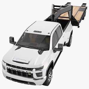 3D model Chevrolet Silverado 3500 HD 2021 06