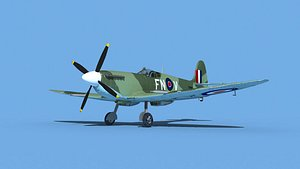 Supermarine Spitfire Mk IXb  V09 3D