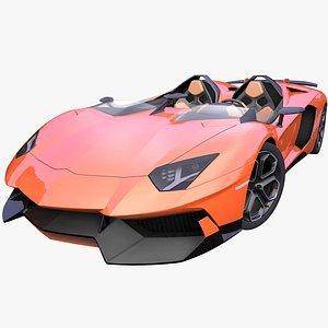 3D generic italian supercar