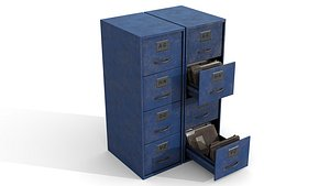Old Document Boxes 3D model