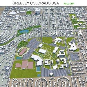 Greeley Colorado USA 3D model