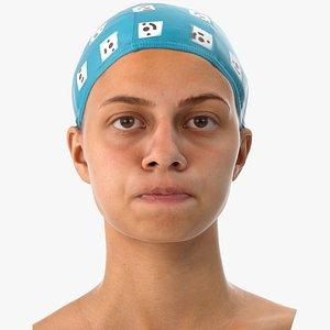 penelope human head cheek 3D model