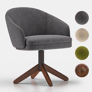 bellevue lounge armchair 41 3D model