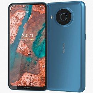 Nokia X20 5G Nordic Blue 3D model