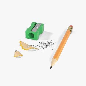 3D pencil sharpener model