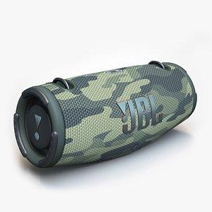 3D JBL XTREME 3 camo model