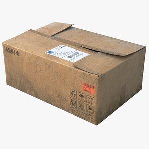 3D cardboard box board model