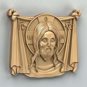 Carved decor central Icon 032 3D model