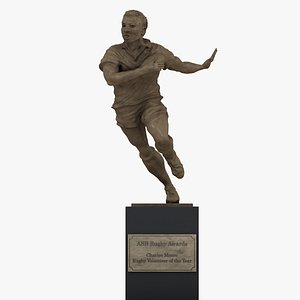 3D ASB Rugby Awards Charles Monro Rugby Volunteer of the Year Trophy L1351