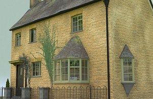 3D model english village