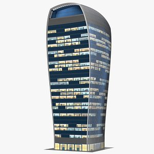 Commercial Skyscraper 20 Fenchurch Street Night Glow 3D model