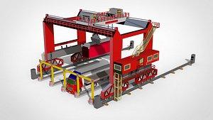 Overhead crane 3D