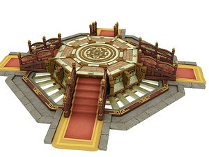 Chinese stage ceremony stage Chinese stage game birth stage 3D model