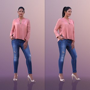 3D woman casual