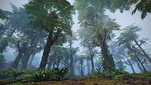 3D jurassic forest jura model