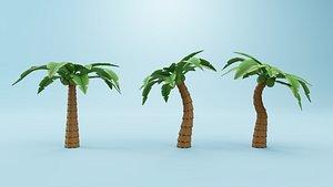 3D Coconut Tree Cartoon model