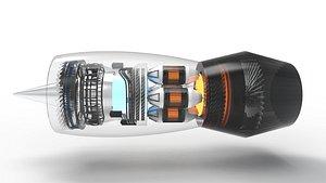 Jet engine N90 model