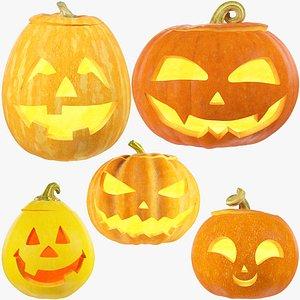Halloween Pumpkins Family Collection V1 3D model