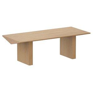 3D dining table van natural