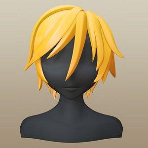 hair character girl 3D model