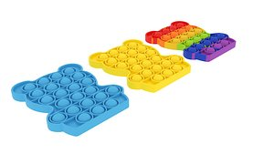 3D Bear Pop It Fidget Toys Set