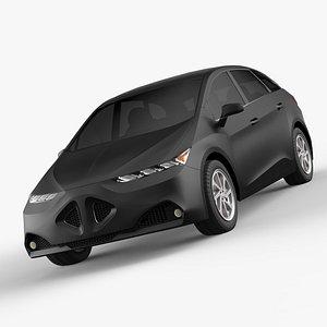 3D Generic Compact Car Concept model